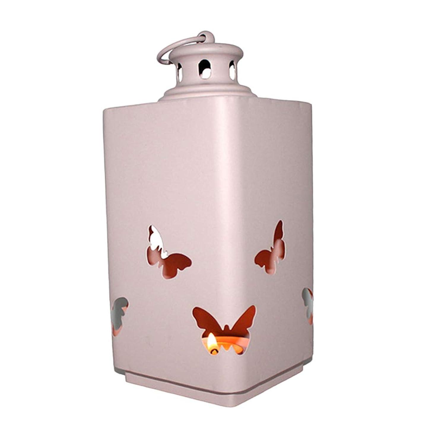 楽しむスカウトお勧め#N/A 北欧のモダンな中空キャンドルホルダー家の装飾蝶の燭台ピンク