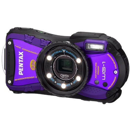 PENTAX 防水デジタルカメラOptio WG-1パープル 約1400万画素 広角28mm 光学5倍 CALSモード 10m防水 超解像 1cmマクロ OPTIOWG-1PU