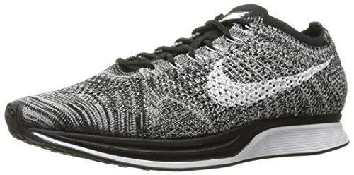 Nike Flyknit Racer, Zapatillas de Running para Hombre, Blanco (Black/White), 41 EU