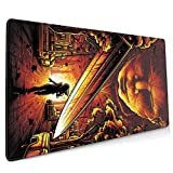 Hallo-ween Non Slip Rubber Mouse Pad for Computers Laptop,Slip Rubber Base RGB Gaming Mouse Pad with Stitched Edge for Office& Home 11.8x31.5 in