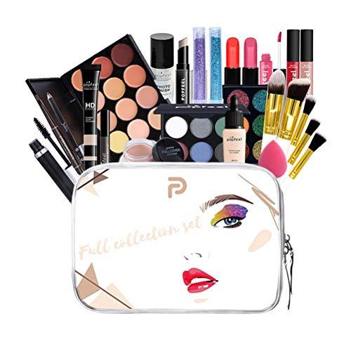 Usmato Juego de Maquillaje Multiusos, Estuche de Maquillaje para cosméticos Juego de Maquillaje, Kit de Inicio de Paleta de cosméticos, Paleta de Sombra de Ojos para Rubor, para Adolescentes