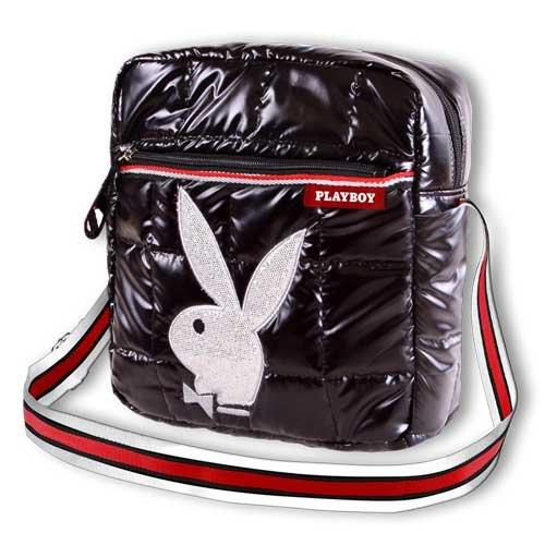 Playboy gymtas nylon glazen schoudertas Action Tablet zwart 83880-PB