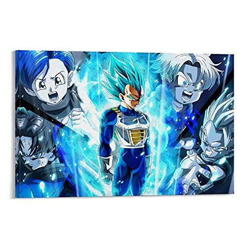 WIUWINF Poster sur toile Dragon Ball Xenoverse 2 - Décoration murale moderne pour chambre à coucher - 50 x 75 cm