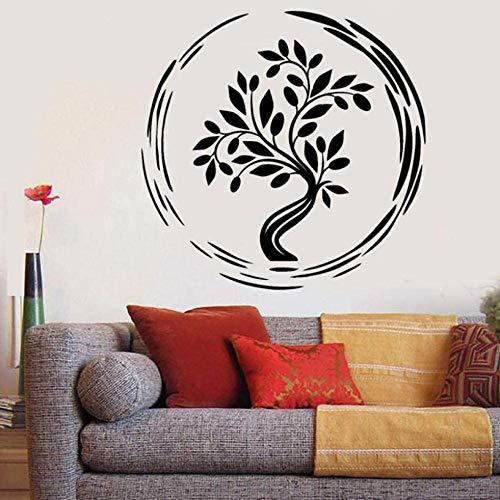 Yoga life tree pattern etiqueta de la pared sala de estar dormitorio decoración de la pared etiqueta de la pared etiqueta de la pared decoración etiqueta póster 42X45cm