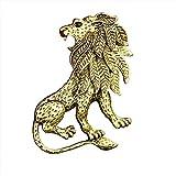 SHUJIA Antiguo Animal León Broche Pin Traje de Hombre Camisa Cuello Accesorios Papel Pins and Broches Vestido de Novia