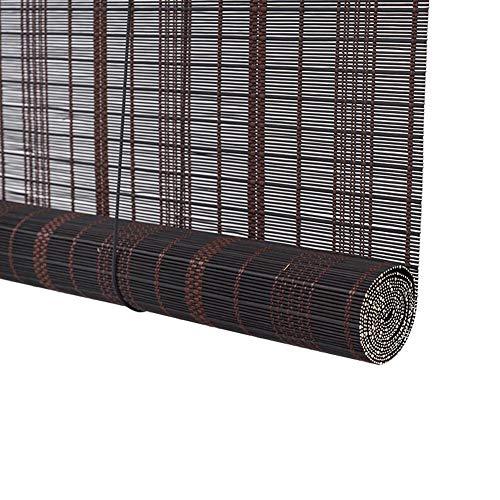 Jcnfa-rolgordijnen jaloezieën bamboe rolluiken, waterdichte meeldauw retro decoratieve gordijnen, haaktype, voor outdoor/indoor