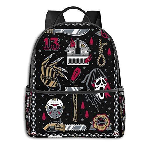Flash de película de terror – tatuaje tradicional – Sudadera gótica con capucha para estudiantes, escuela, ciclismo, ocio, viajes, camping, al aire libre