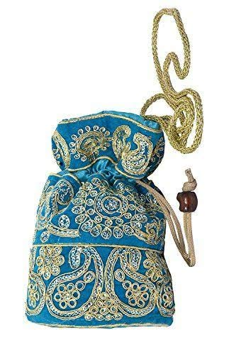 Buy Tubination Women Potli Purse Blue Color at Amazon.in