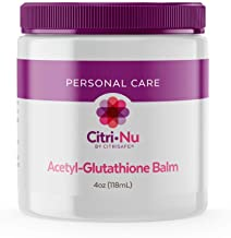 CitriNu Acetyl Glutathione Balm - General Aches and Pains - Coconut Cream Skin Care Products - 4 oz