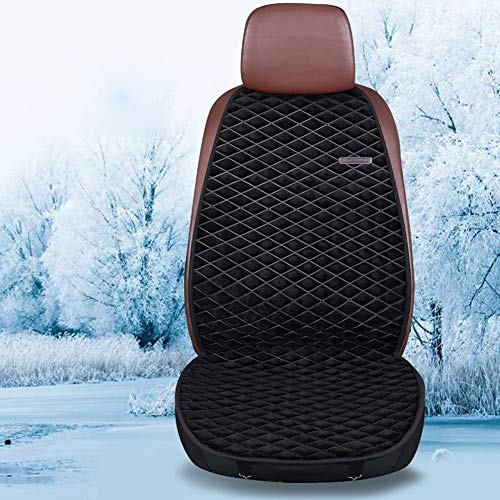 yummyfood 12V / 24V Auto Beheiztes Sitzkissen Auto Sitzauflage Sitzheizung Plüsch Vordersitz Kissen, Abnehmbar, Schnell Heizbar, 30-60 ° C