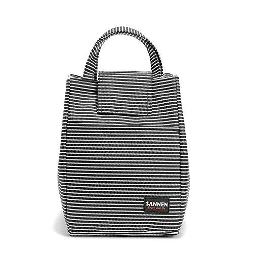 Melnne - SanNeng Streifen Design Picknicktasche Thermal Mittagessen Tasche/Kühltasche, Kühlbox 9L Unisex Outdoor mit Außentasche