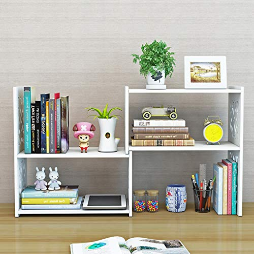CKH Simple Rack Small Office Storage Rack Creative Desktop Boekenplank Mode Intrekbare Desktop Boekenkast