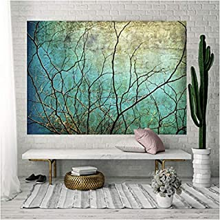 Tasera Branch Tapestry, Antique Blue Sky Tapestry Wall Blanket Wall Art Black Twig Tapestry for Bedroom Living Room Dorm Decor (79 x 59 inches)