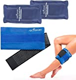 Flexible Gel Ice Pack & Wrap for Hot and Cold Compression Therapy – Adjustable Strap for Desired Compression...