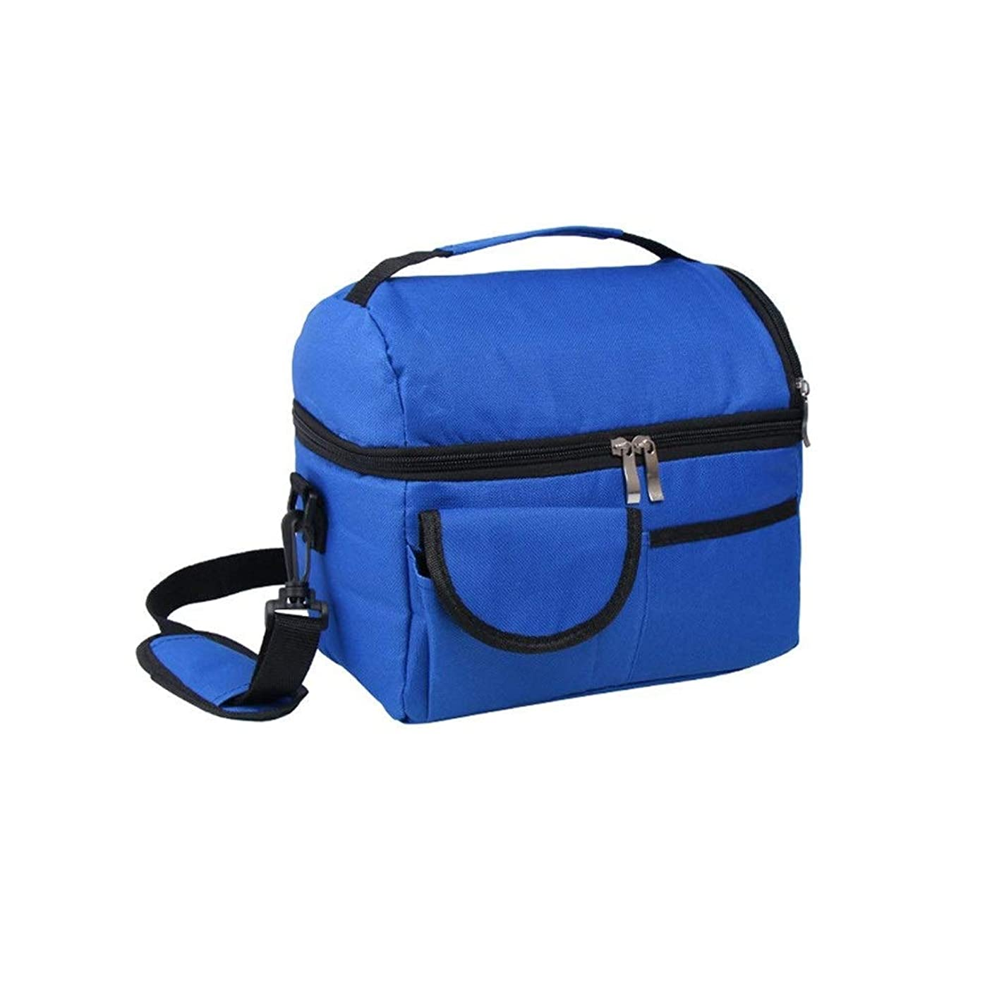 世界合理的武装解除LVESHOP Lalagoランチバッグ、調節可能なショルダーストラップ付きのトートバッグ大容量のフレッシュキーピングバッグ - 春のお出かけ、アイスドリンク、フルーツ、野菜のフレッシュキーピングに最適(ロイヤルブルー) (色 : 青)