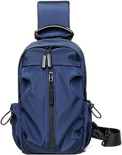 Dengyujiaasj Backpack, Fishing Outside Travel Backpack Sports Chest Bag Distaff, USB Charging Hiking Bag, Oxford Laptop Ba...