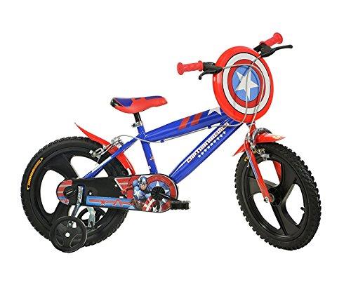 Mediawave Store Bicicletta Bambino Dino Bikes 416 UL-CA Misura 16 Capitan America età 4-7 Anni