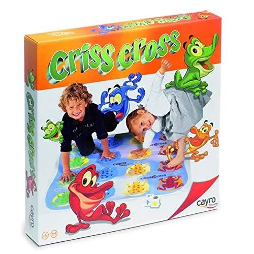 Criss Cross Jeu de Sol géant Twister très Amusant Améliore l'équilibre Enfant 4+