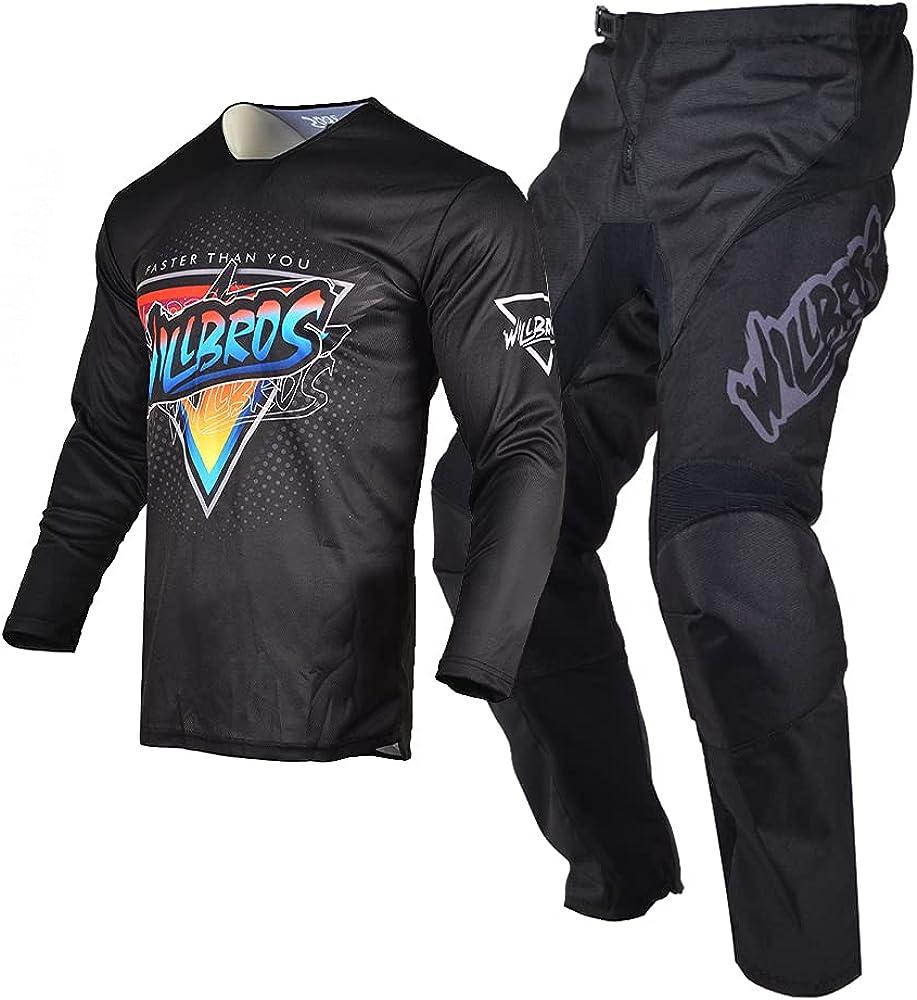 Willbros Ride Black Blue Genuine Motocross Dirt Bike Translated P MX Jersey Offroad