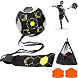 TYRSEN Fútbol Trainer, Kit Entrenamiento Fútbol Accesorios con Gomas Elasticas para Pelota Fútbol, Voleibol y Rugby, Regalos de Fútbol para Niños Adultos