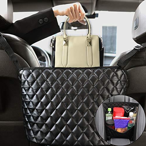 Car Net Pocket Handbag Holder,Witeo Car Seat Back Organizer Large Capacity Net Bag,Purse Storage & Pocket between Car Seat Storage ,Barrier of Back Seat Pet Kids