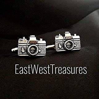 Camera lens cufflinks cuff links- Photographer Photography gift accessory for men him