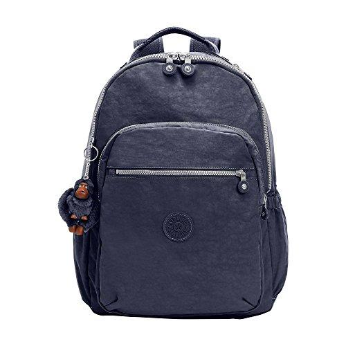 Kipling womens Seoul Go True Blue Laptop Backpack, true blue, One Size