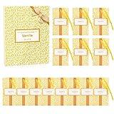 SCENTORINI Set de 14 Bolsita Perfumados de Vainilla sobre Aromántoco Deshumidificador y Ambientador para Cajones y Armarios, Ropa de Bebé, Zapatero, Maleta Regalos para Cumpleaños San Valentin