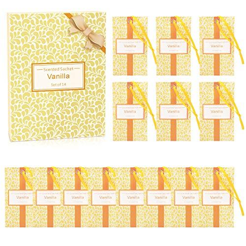 SCENTORINI Sacchetti Profumati di Vaniglia Bustina Profumata per Cassetti Armadi e Guardaroba (10g x 14 bustine)