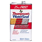 Thompsons Water Seal 24111 1.2-Gallon Clear Low VOC Water Sealer for Exterior Use