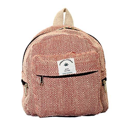 Generic Umweltfreundlicher Mini-Rucksack Für Mädchen Handgefertigter Hanf-Rucksack Für Frauen Bio Schöner Kleiner Rucksack Für Mädchen (Kastanienbraun)