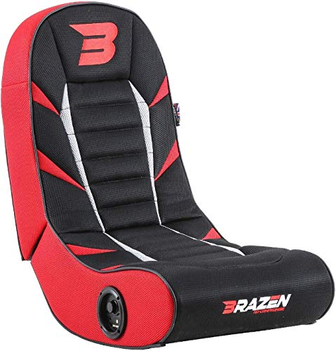BraZen Python 2.0 Bluetooth Surround Sound Gaming Chair, Red chair gaming red