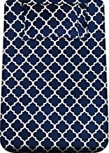 Utopia Bedding - Juego Sábanas de Cama Estampadas - Microfibra Cepillada - Sábanas y 1 Funda de Almohada - (Cama 90, Azul Marino)