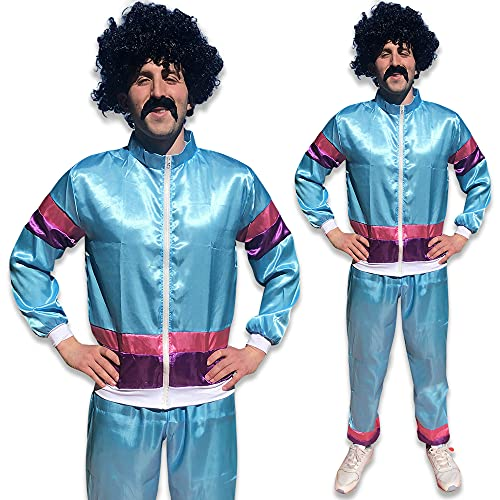 Mens 1980s 80s Shell Suit Tracksuit Scouser Fancy Dress Costume Outfit...