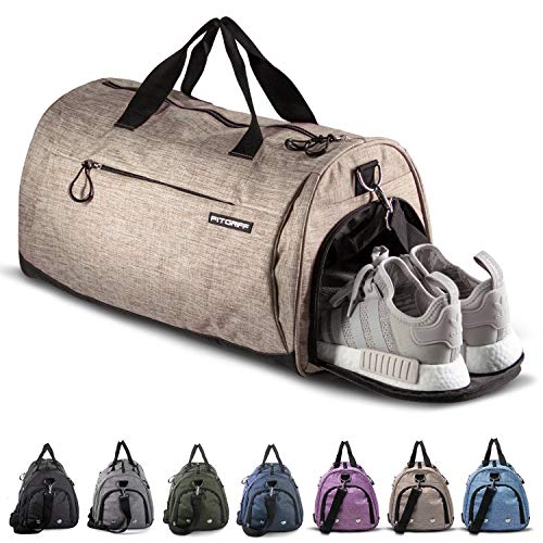 Fitgriff® Sports Gym Bag for Men and Women - with Shoe Compartment & Wet Pocket - Fitness Bag