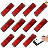 Kulannder Reflectore de Adhesivo,12 Piezas reflectores de rectángulo,Rojos reflectores Rojos,Rojo reflectore de Adhesivo reflectore de Adhesivo de Coche,reflectore de Adhesivo de vehículos