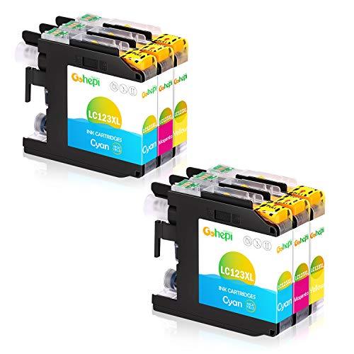 Gohepi Ersatz für Brother LC123 Farbe Druckerpatronen Kompatibel für Brother MFC-J6920DW, MFC-J6520DW, DCP-J132W, DCP-J4110DW, MFC-J4510DW, MFC-J6720DW, MFC-J470DW, MFC-J4610DW, DCP-J152W