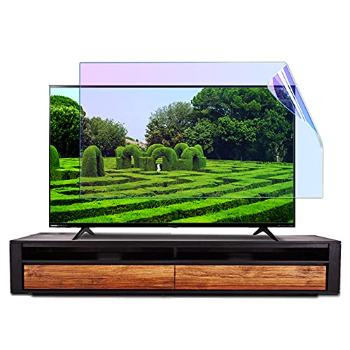 WSHA Protector de Pantalla Película Anti Blue Light Anti Glare Relieve TV Filtro de Pantalla Alivio Fatiga Ocular Ultra-Borde para LCD, LED, OLED & QLED 4K HDTV,60 Inches(1327x749mm)