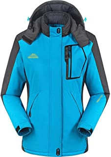 YXHM A Women's Winter Outdoor Jacket and Velvet Padded Cotton Waterproof Mountaineering Suit (Color : Moon Blue, Size : M)