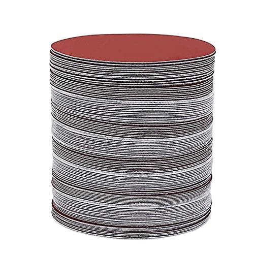 20 piezas 3 pulgadas 75 mm-80 mm disco de papel de lija redondo hojas de arena grano 60-2000 gancho y bucle de disco