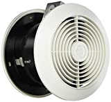 Broan-Nutone 512 Room-to-Room Ventilation Fan, Plastic White Square Exhaust Fan, 6.0 Sones, 90