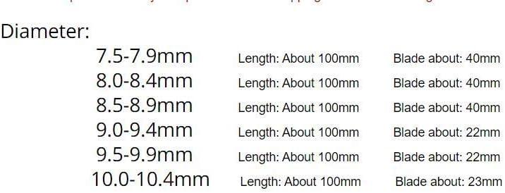 W-Shufang-wj 7.5-10.4mm H8 Chucking Cobalt M35 Reibahlen Head Diameter : 7.5mm
