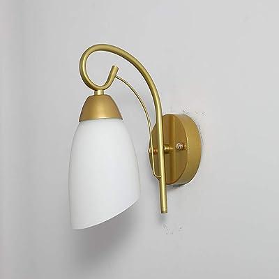 Lampe Murale Lumière, Lumière Murale Led Avec Verre E27 Fixture Sconce Luminaire Moderne Luft Luminaire Pour Restaurant Salon Chambre À Coucher Bureau Détude Café-No E27 Ampoule