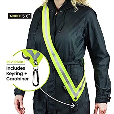 MOONSASH Original – Patented Reflective Night Safety Gear > Fits Most Men, Women and Teens > Reversible, Comfortable, Practical & Stylish Anytime Accessory