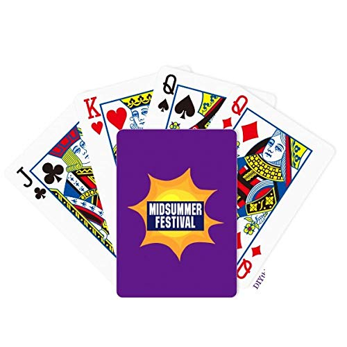 OFFbb-USA Midsummer Festival Harvest Joy Poker Jugando a las Cartas Juego de Mesa