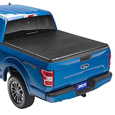 "Tonno Pro Tonno Fold, Soft Folding Truck Bed Tonneau Cover | 42-200 | Fits 2009-18, 19/20 Classic Dodge Ram 1500/2500/3500 6'4"" Bed (75.9"")"