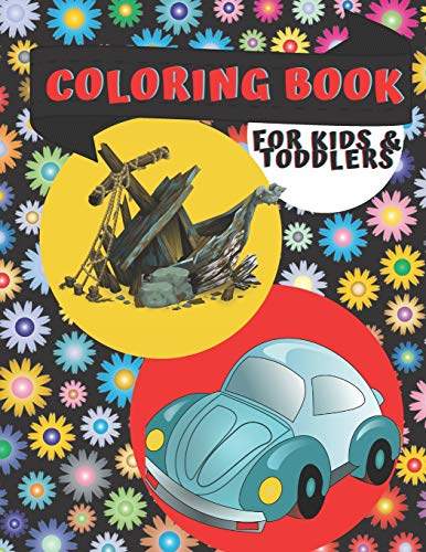 Coloring Book for Kids & Toddlers: Planes and Cars, ...: Coloring Book Activity books for preschooler - coloring book for Boys, Girls, Fun, book for kids ages 2--8, 8.5x11