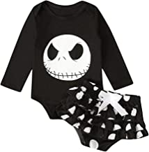 Mayunn 2-Pieces Toddler Baby Boys Cotton Halloween Pumpkin T Shirt Tops+ Pants Outfits Costume Set Clothes (6Months-4Years)