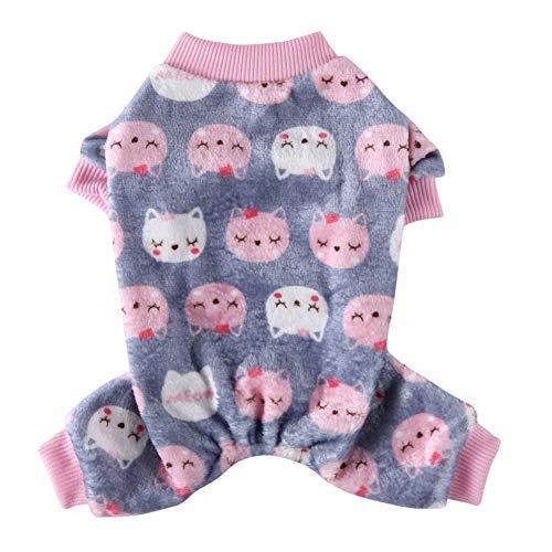 Poseca Pijamas para Perros y Gatos Ropa de Mono suéter cálido para Perros Abrigo de Lana para...