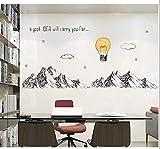Pegatina XXL pared/cristal montañas y globo decoracion cool dormitorios salones caravanas aticos escaparates 1 m x 80 cm de CHIPYHOME